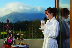 Brehon Balcony Model With Tea - Destination Killarney